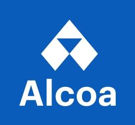 Alcoa logo vertical reversed